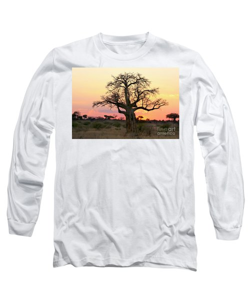 Baobab Tree At Sunset  Long Sleeve T-Shirt