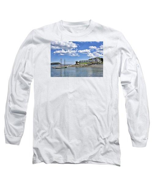 Bar Harbor Inn - Maine Long Sleeve T-Shirt by Brendan Reals