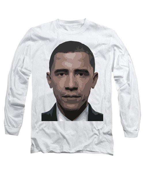 Barack Obama Long Sleeve T-Shirt by Tshepo Ralehoko