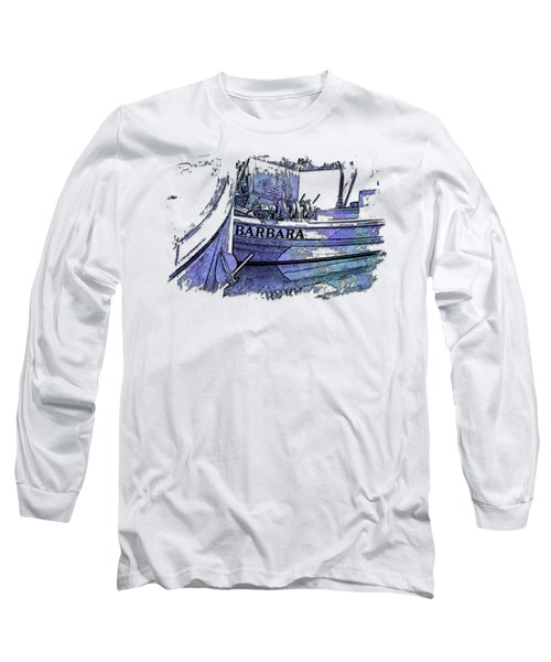Barbara Berry Blues 3 Dimensional Long Sleeve T-Shirt