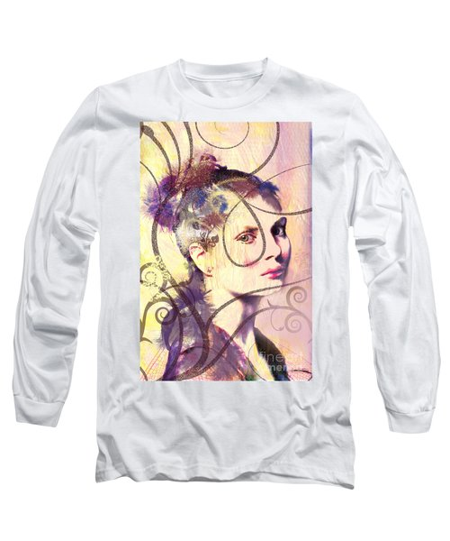 Barbara Blue Long Sleeve T-Shirt by Kim Prowse