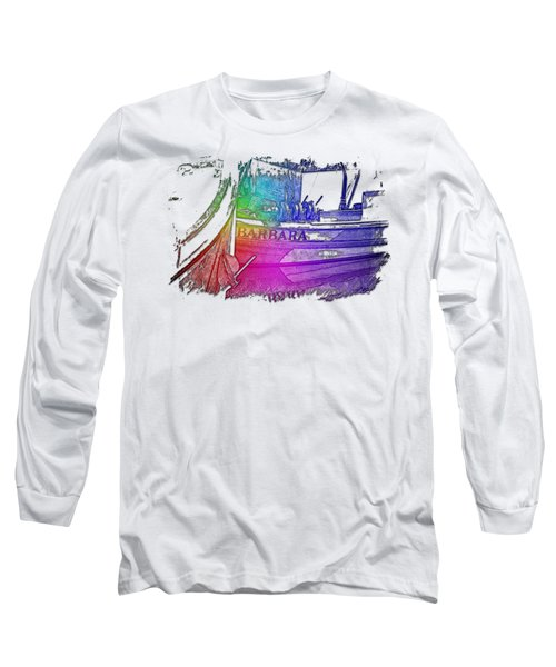 Barbara Cool Rainbow 3 Dimensional Long Sleeve T-Shirt