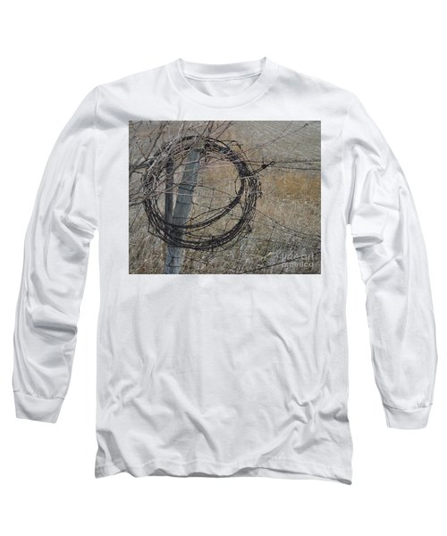 Barbed Wire Long Sleeve T-Shirt by Renie Rutten