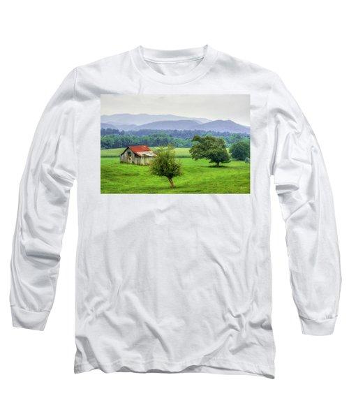 Barn In Smokies 2 Long Sleeve T-Shirt