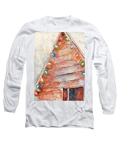 Barn In Snow Long Sleeve T-Shirt
