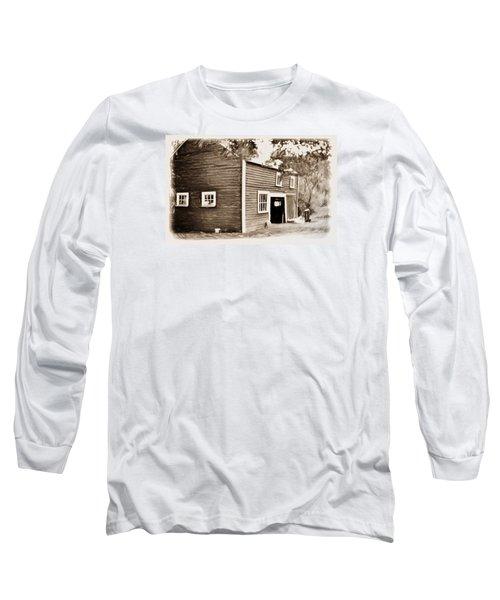 Barn In The Woods Long Sleeve T-Shirt by Rena Trepanier