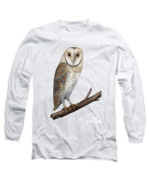 Barn Owl Screech Owl Tyto Alba - Effraie Des Clochers- Lechuza Comun- Tornuggla - Nationalpark Eifel Long Sleeve T-Shirt