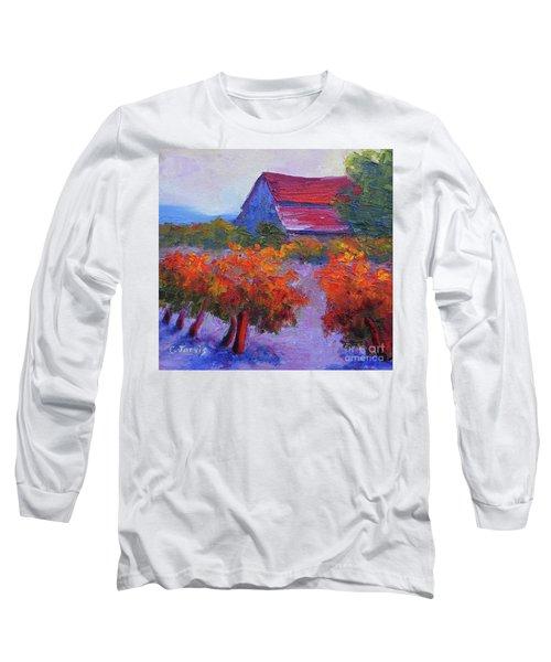Barn Vineyard Autumn Long Sleeve T-Shirt