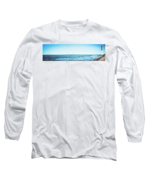 Long Sleeve T-Shirt featuring the photograph Barnegat Light Panorama by Colleen Kammerer
