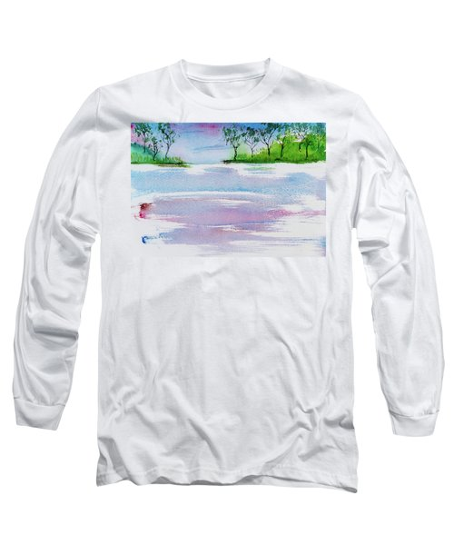 Gum Trees Frame The Sunset At Barnes Bay Long Sleeve T-Shirt