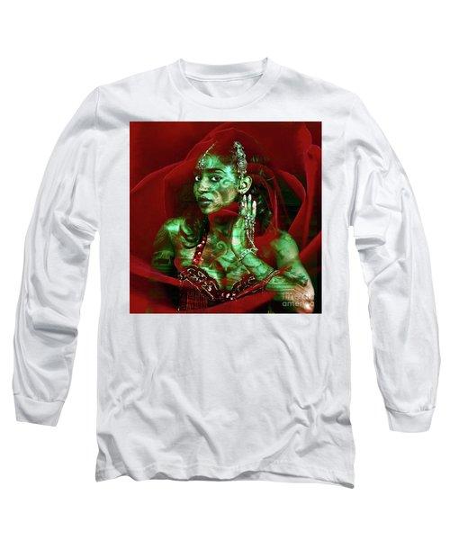 Baroque Meets Oriental Rose Long Sleeve T-Shirt