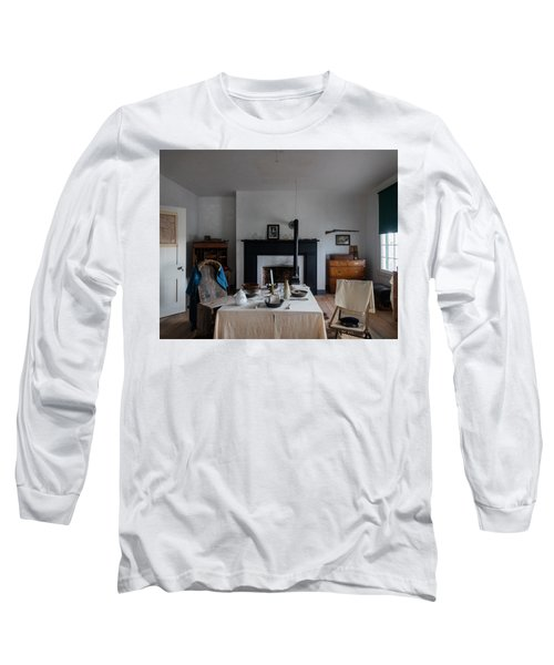 Long Sleeve T-Shirt featuring the photograph Barracks Interior At Fort Laramie National Historic Site In Goshen County by Carol M Highsmith