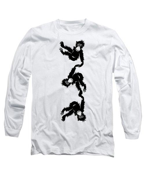 Barrel Full Of Monkeys T-shirt Long Sleeve T-Shirt by Edward Fielding