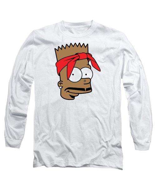 Bart Tupac Long Sleeve T-Shirt