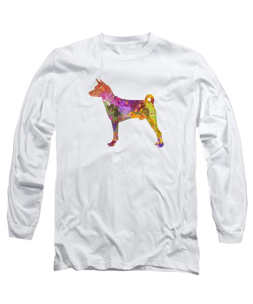Basenji In Watercolor Long Sleeve T-Shirt