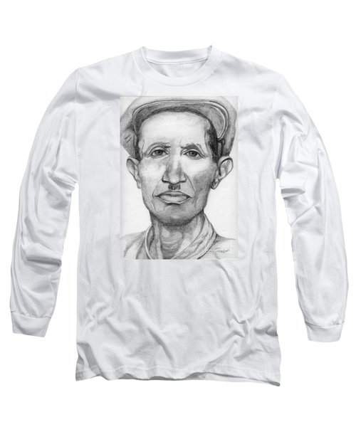 Long Sleeve T-Shirt featuring the drawing Bashi by Annemeet Hasidi- van der Leij