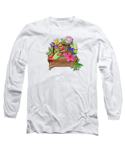 Basket Of Tropicals Long Sleeve T-Shirt by Larry Bishop