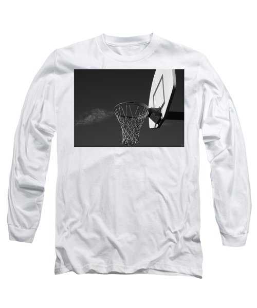 Long Sleeve T-Shirt featuring the photograph Basketball Court by Richard Rizzo