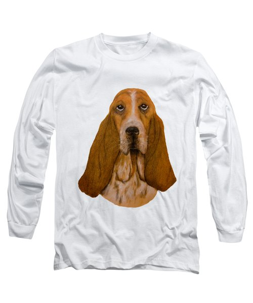 Basset Hound Portrait Long Sleeve T-Shirt