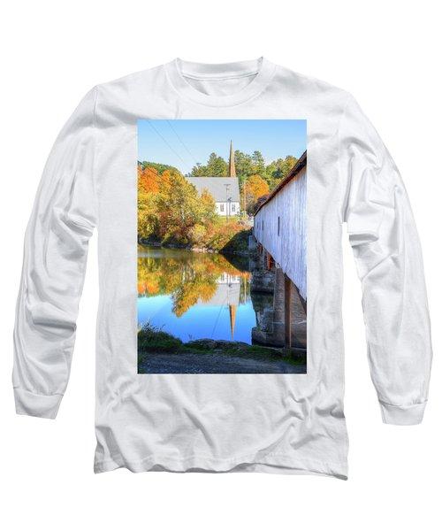 Bath Covered Bridge Long Sleeve T-Shirt
