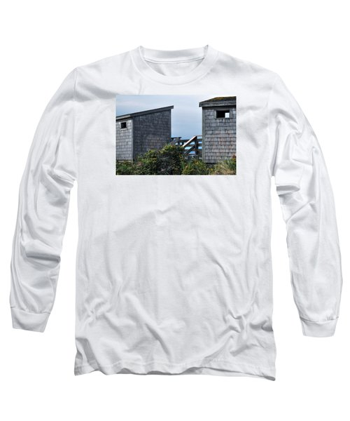 Bath Houses At Nobska Beach Long Sleeve T-Shirt