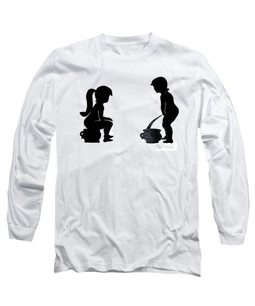 Bathroom Silhouettes Long Sleeve T-Shirt