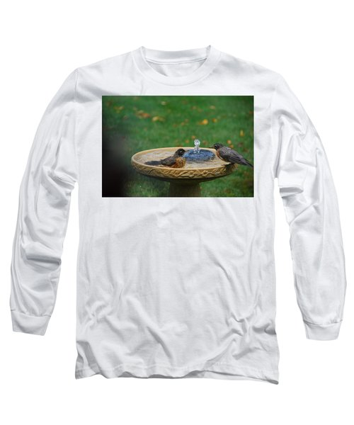 Bathtime In The Front Yard Long Sleeve T-Shirt