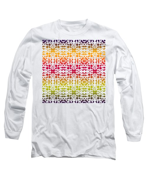 Batik Rustic Rainbow 200 - White Long Sleeve T-Shirt