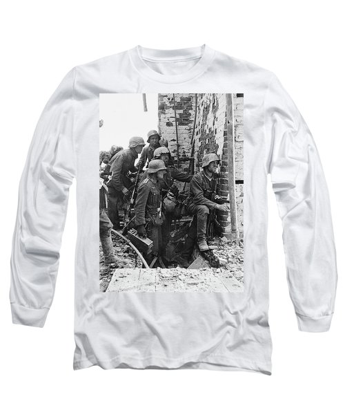 Battle Of Stalingrad  Nazi Infantry Street Fighting 1942 Long Sleeve T-Shirt