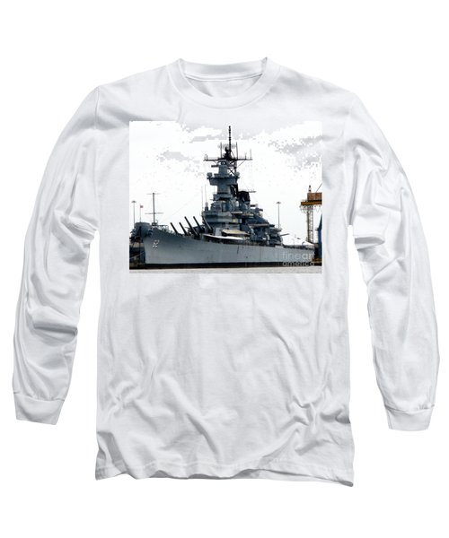 Battleship New Jersey Long Sleeve T-Shirt by Kevin Fortier