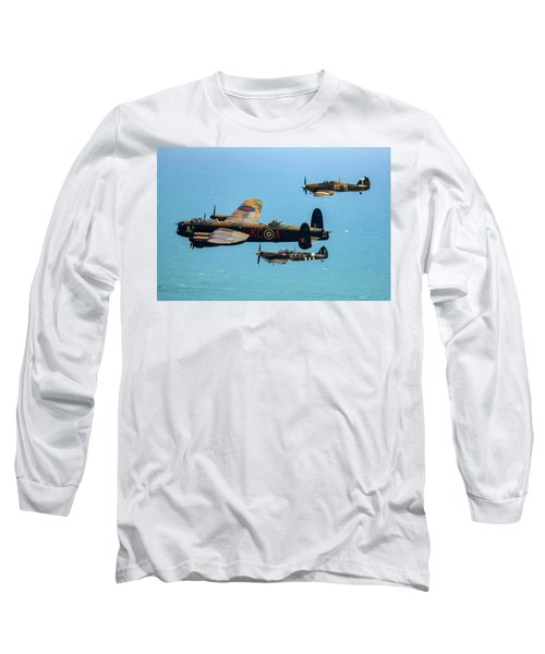 Bbmf Eastbourne Beachy Head Flypast Long Sleeve T-Shirt
