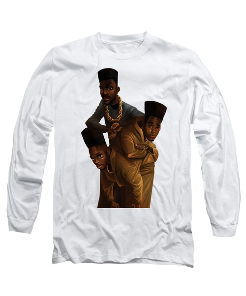 Bdk White Bg Long Sleeve T-Shirt by Nelson Dedos Garcia