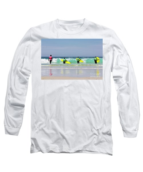 Long Sleeve T-Shirt featuring the photograph Beach Boys Go Surfing by Terri Waters