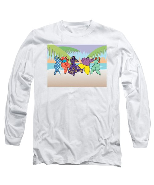 Beach Dancers Long Sleeve T-Shirt