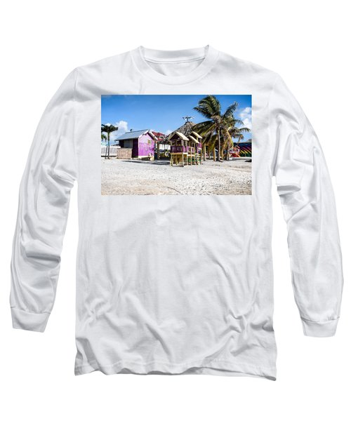 Beach Huts Long Sleeve T-Shirt by Lawrence Burry