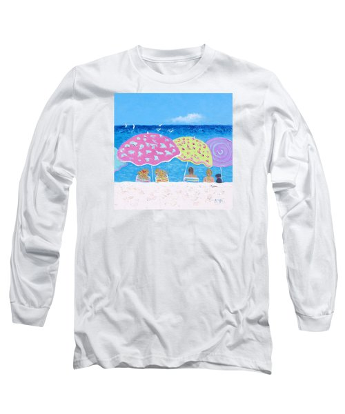 Beach Painting - Lazy Summer Days Long Sleeve T-Shirt
