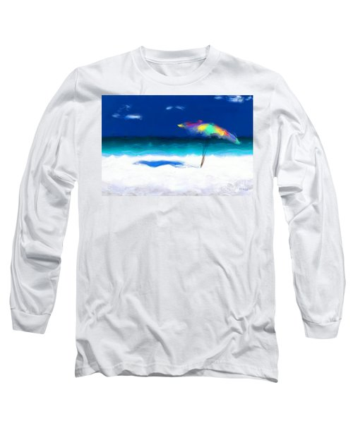 Beach Scene 4. Modern Decor Collection Long Sleeve T-Shirt by Mark Lawrence