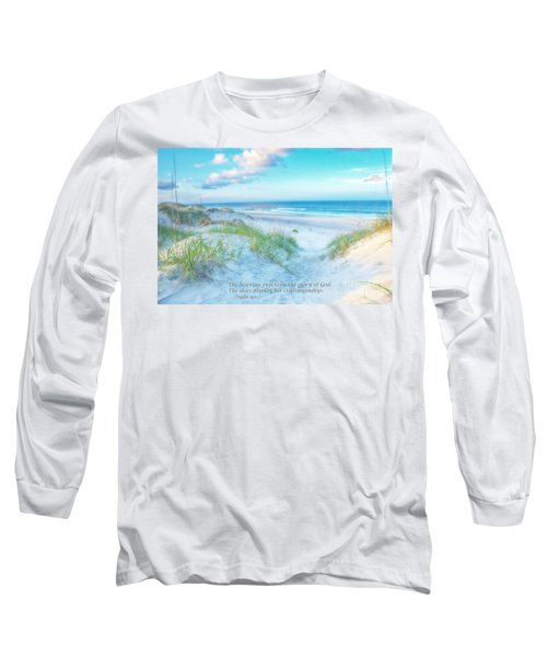 Long Sleeve T-Shirt featuring the photograph Beach Scripture Verse  by Randy Steele