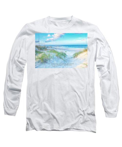 Beach Scripture Verse  Long Sleeve T-Shirt