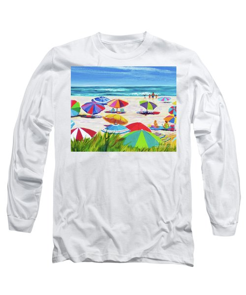 Umbrellas 2 Long Sleeve T-Shirt by Anne Marie Brown
