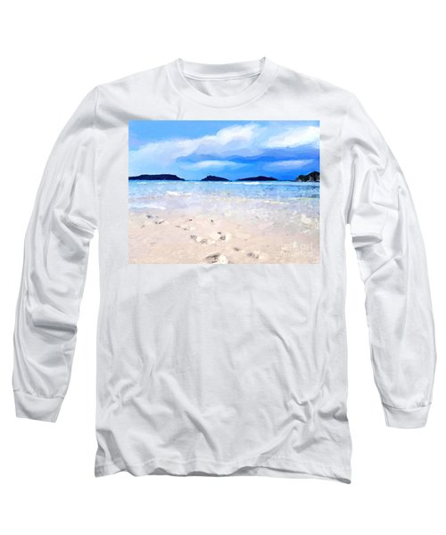 Beach Walk Long Sleeve T-Shirt by Anthony Fishburne