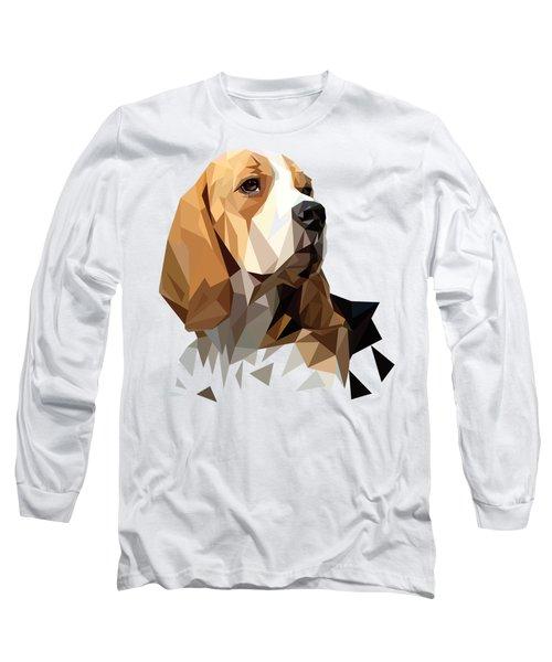 Beagle Hunting Dog Head Long Sleeve T-Shirt