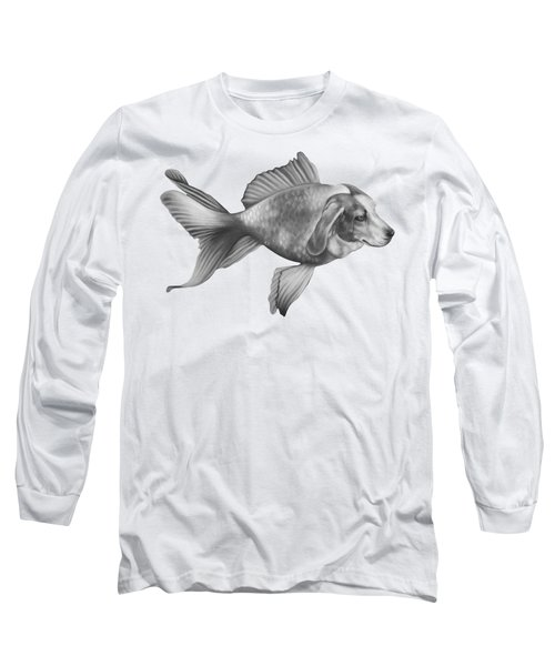 Beaglefish Long Sleeve T-Shirt by Courtney Kenny Porto