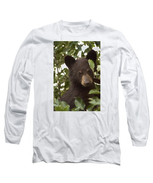 Bear Cub In Apple Tree7 Long Sleeve T-Shirt
