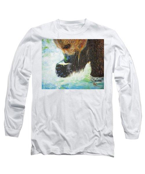 Bear Fishing Long Sleeve T-Shirt