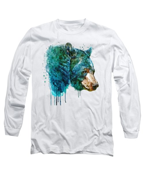 Bear Head Long Sleeve T-Shirt by Marian Voicu