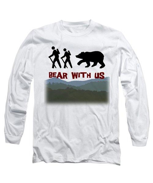 Bear With Us Long Sleeve T-Shirt by John Haldane