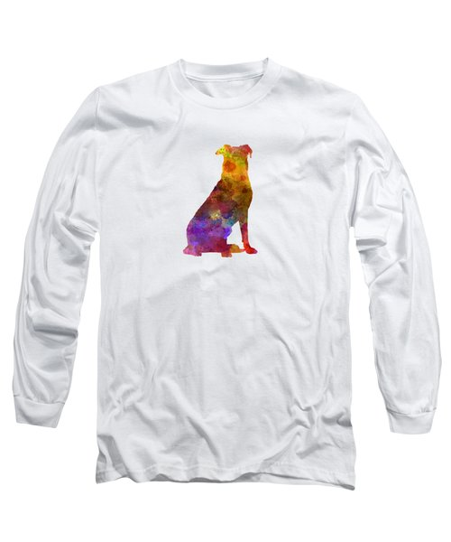 Beauceron In Watercolor Long Sleeve T-Shirt by Pablo Romero