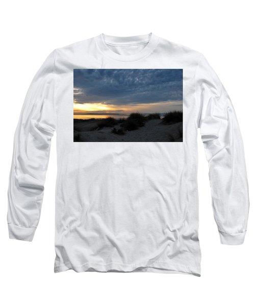 Beautiful Beach San Dunes Sunset And Clouds Long Sleeve T-Shirt by Matt Harang