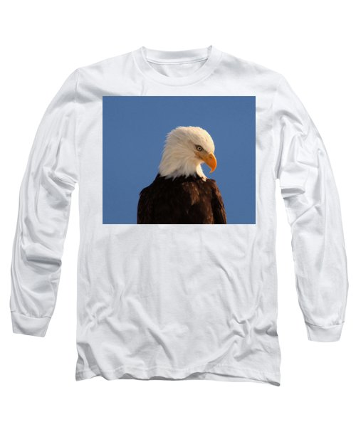 Long Sleeve T-Shirt featuring the photograph Beautiful Eagle by Jeff Swan